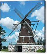 Windmill In Fleninge,sweden Acrylic Print