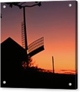 Windmill In The Afterglow. Acrylic Print