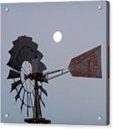 Windmill Moon Acrylic Print