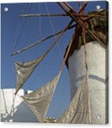 Windmill On Mykonos Acrylic Print