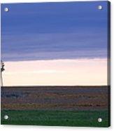 Windmill On The Prairie Acrylic Print