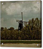Windmill On The Rhine Acrylic Print