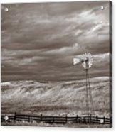 Windmill Sepia Acrylic Print