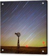 Windmills And Stars Acrylic Print