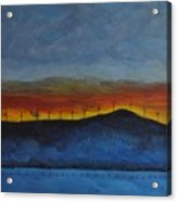 Burney Sunset With Windmills Acrylic Print