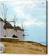 Windmills Of Mykonos I Acrylic Print