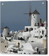 Windmills Of Santorini Acrylic Print