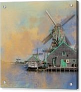 Windmills Of Zaanse Schans Acrylic Print