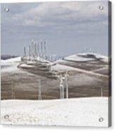 Windmils In Snow Acrylic Print