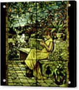 Window - Lady In Garden Acrylic Print