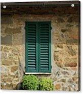 Window #3 - Cinque Terre Italy Acrylic Print
