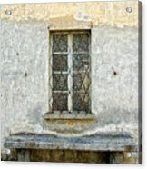 Window And Bench Acrylic Print