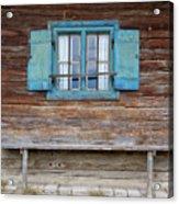 Window And Bench Acrylic Print by Yair Karelic