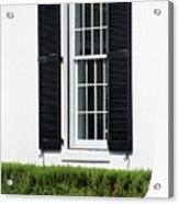 Window And Black Shutters Acrylic Print