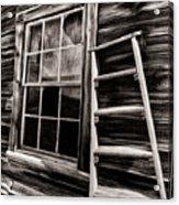 Window And Ladder Acrylic Print