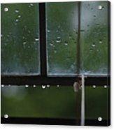 Window And Raindrops-2 Acrylic Print