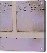Window And Raindrops Acrylic Print