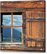Window And Reflection Acrylic Print