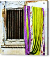 Window And Sari Acrylic Print