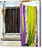 Window And Sari Acrylic Print