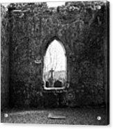 Window At Fuerty Church Roscommon Ireland Acrylic Print by Teresa Mucha