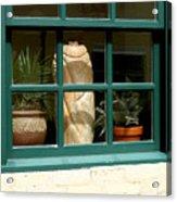 Window At Sanders Resturant Acrylic Print
