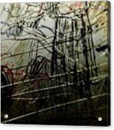 Window Drawing 02 Acrylic Print by Grebo Gray