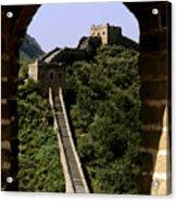 Window Great Wall Acrylic Print