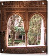 Window In La Alhambra Acrylic Print