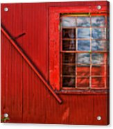 Window In Red Acrylic Print