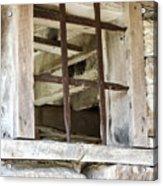 Window In The Amana Farmer's Market Barn Amana Ia Acrylic Print