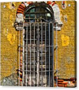 Window In The Yellow Wall By Darian Day Acrylic Print