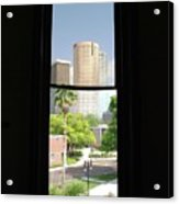 Window Of Downtown Acrylic Print