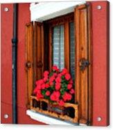 Window On Burano Acrylic Print