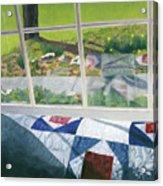 Window On Spring Acrylic Print
