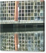 Window Reflection Acrylic Print by Don Perino