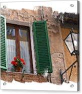 Window Siena Italy Acrylic Print