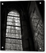 Window To Mont St Michel Acrylic Print by Dave Bowman