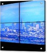 Window View Of San Francisco Acrylic Print