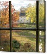 Window View Of Shakertown Acrylic Print