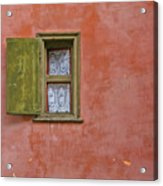 Window With A Lace Curtain Acrylic Print