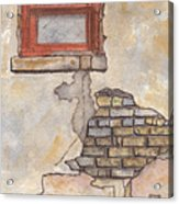Window With Crumbling Plaster Acrylic Print