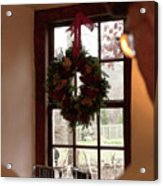 Window Wreath Acrylic Print