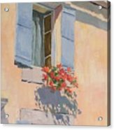 Windowbox Flowers Acrylic Print