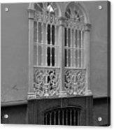 Windows At Cadiz Bw Acrylic Print