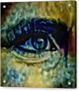 Windows Into The Soul Eye Painting Closeup All Seeing Eye In Blue Pink Red Magenta Yellow Eye Of Go Acrylic Print