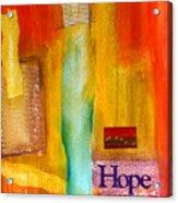 Windows Of Hope Acrylic Print