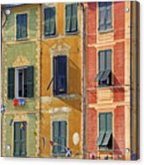 Windows Of Portofino Acrylic Print by Joana Kruse