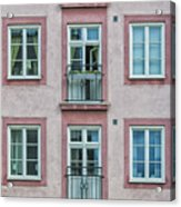 Windows Of The French Style Acrylic Print