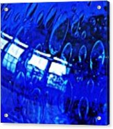 Windows Reflected On A Blue Bowl 3 Acrylic Print